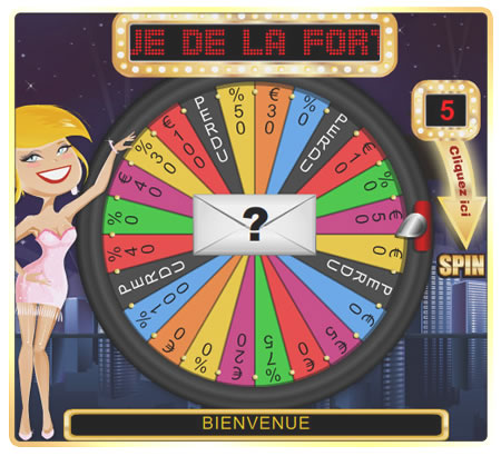 la roue de la fortune jeu bonus sur jeu l gal en belgique. Black Bedroom Furniture Sets. Home Design Ideas